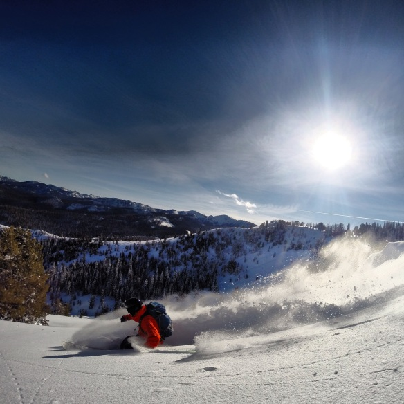 Finally back to where I want to be: skiing blower powder on a bluebird backcountry day.