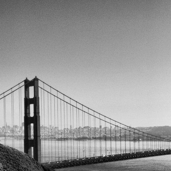 The Golden Gate Bridge and San Francisco.