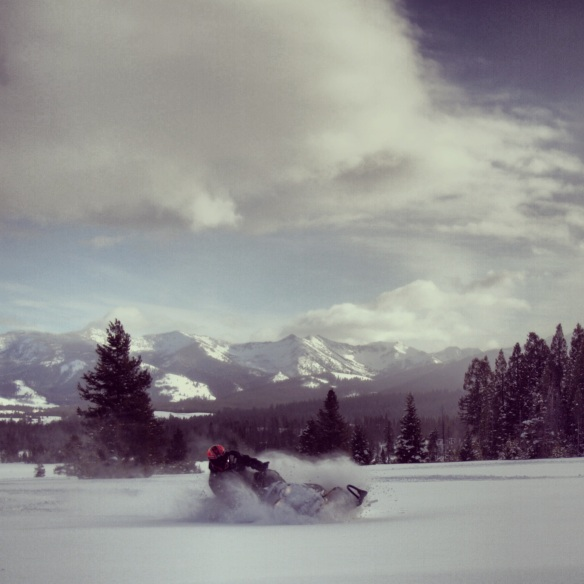 Finally getting my turns down on the sled.